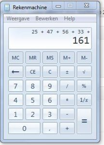 rekenmachine kilometers januari