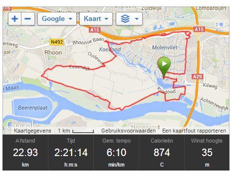zomaar 23 km lopen