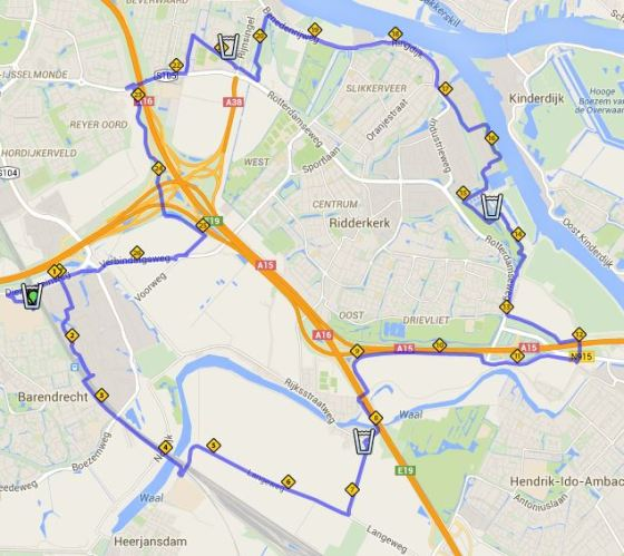cav 28 km route