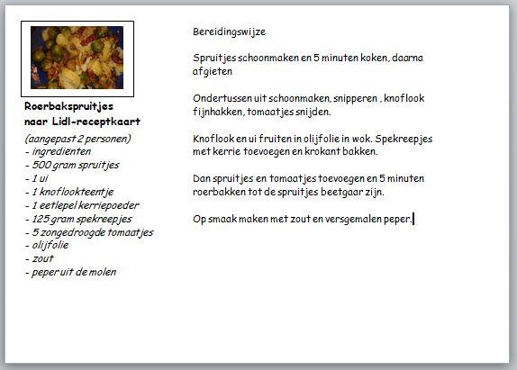 recept roerbakspruitjes
