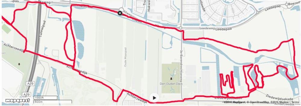 zuidpolder-runningroute