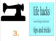 Life hacks sewing/naaien tips en trics 3