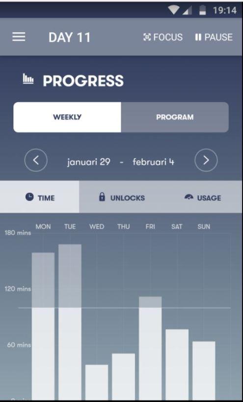 week 1 space minuten smartphone