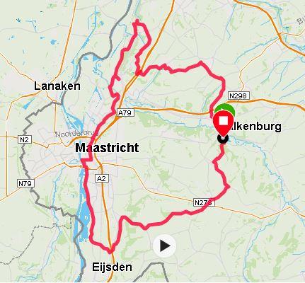 valkenburg maastricht fietsen route