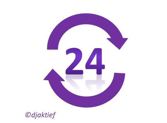 24 uur