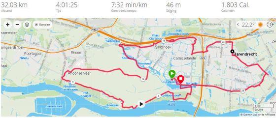 training 32 km maasdijk route