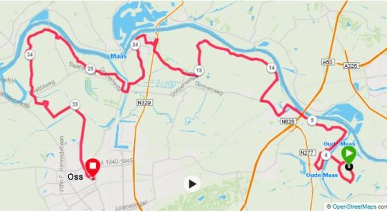 maasdijkmarathon parcours