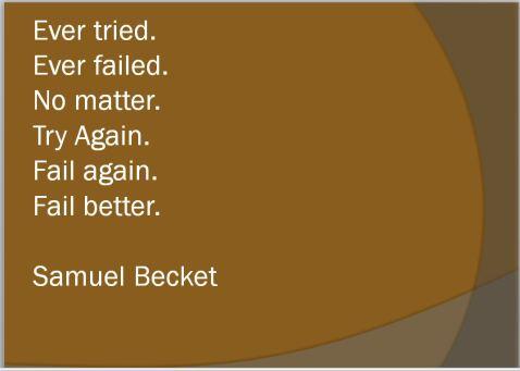 ever tried etc. Becket
